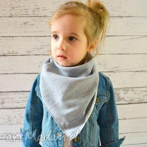 custeczka apaszka dla dziecka dresowa szary melanż , bawełna, dzianina, wiosna, eko