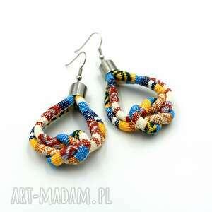 kolczyki boho titicaca knot, etniczne, styl boho, wiszące