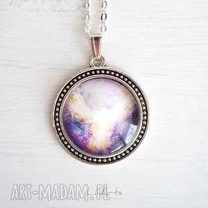 medalion, talizman - anielski kontakt duży, naszyjnik, wisior, anioł