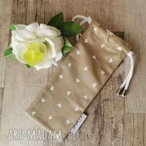 handmade etui pokrowiec woreczek kolorowy wodoodporny do wielokrotnego użycia na sztućce