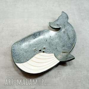 Mydelniczka wieloryb ceramika pracownia ako mydelniczka