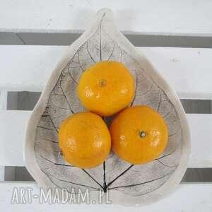 talerzyk liść, ceramiczny, dekoracyjny, talerz, roślinny