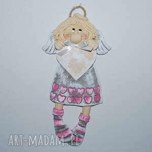 pokoik dziecka marika ma serce - anioł, aniołek, masa solna, prezent, na ścianę