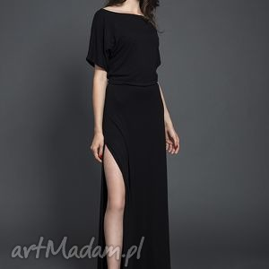 Czarna sukienka maxi, sukienka, valentimo