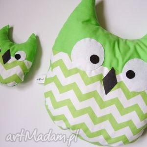 sowa poduszka mała sówka - zielone maskotki, dziecięcy maskotka