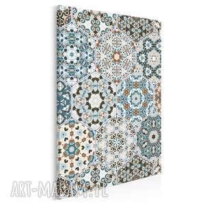 obraz na płótnie - heksagony marokański wzór w pionie 50x70 cm 55403