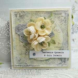 Prezent W dniu Imienin- kartka w pudełku, ślub, imieniny, urodziny, dla-niej,