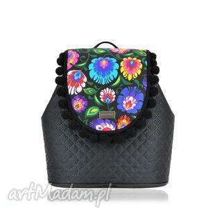 farbotka plecak damski puro 830, wymienne, klapki, plecak, puro, folk, pikowany