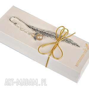 aniołek platynowy - zakładka w pudełku, zakładka, anioł, prezent, mikołaj, książki