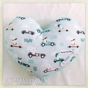 poduszka serce królik w aucie - królik, auta, serce, mięta, minky