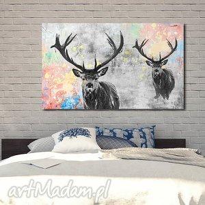 obraz JELEŃ 2- 120x70cm na płótnie , obraz, jeleń, jelenie