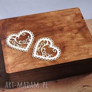 Skrzynia na koperty Ślubne lub pamiątki, pudełko, drewno, eko,