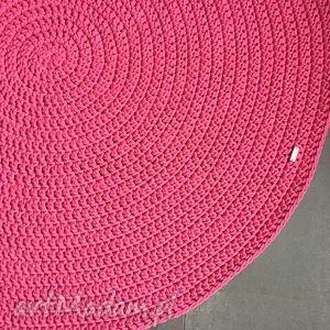 ręcznie robione dywany dywan ze sznurka bawełnianego fuksja 130 cm