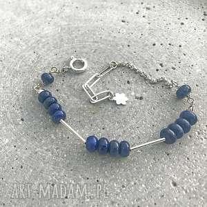 lapis lazuli, bransoletka srebrna, srebro 925