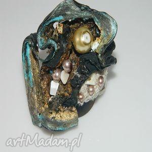 artystyczny pierścionek, recycling, artystyczny, kolorwoy