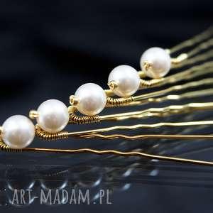 perłowe kokówki, swarovski, perła, ozdoba, ślub, wyjątkowe prezenty