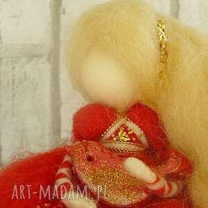 zaczarowana zimowa wróżka - wełna, dekoracja, dziecko, lalka