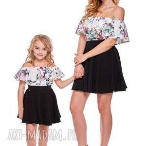 mama i córka bluzka hiszpanka dla córki ld9b/5, falbana, bluzka, mama