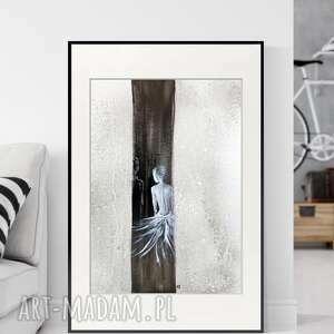 obraz ręcznie malowany 50 x 70 cm, nowoczesna abstrakcja, 2626715