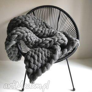 handmade koce i narzuty gruby wełniany pled koc chunky blanket