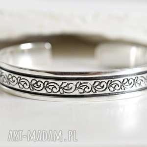 925 Srebrna bransoletka ORNAMENT II, srebro, srebrna, 925, opaska,