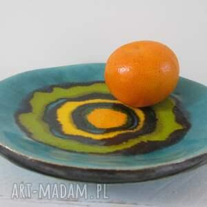 ceramika energetyczna mała miseczka, kolorowa ceramiczny talerzyk