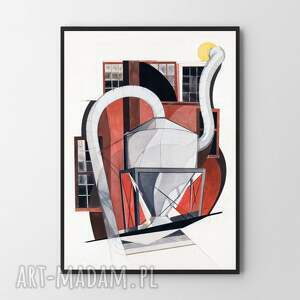 plakat obraz abstract demuth a2 - 42x59 4cm, do salonu, grafiki