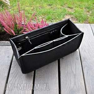 Organizer z filcu do torebki - czarny niski etui beltrani