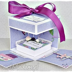 exploding box na chrzest dla dziewczynki - exploding, box, pudełko, chrzest