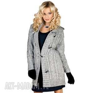 ciepły sweter z kapturem, swetr, kaptur, długi, swetry