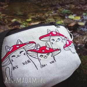 mini nerka kotki muchomorki, mini, kotki, cat lady, haftowana, leśna