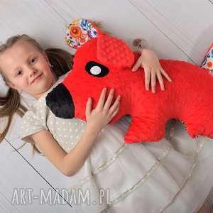 Prezent Poduszka dziecięca pies czerwony, poduszka-pies, przytulanka-minky
