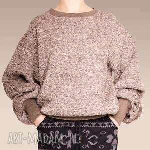 swetry gruby sweter melanż, gruby, melange, melanz, ocieplony, sciagaz
