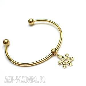 Alloys Collection - flower gold , stal, szlachetna, pozłacane