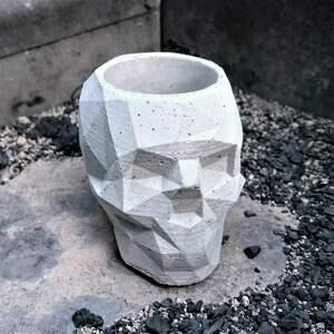 Betonowa czaszka dekoracje zaczarowana m czaszka, betonowe