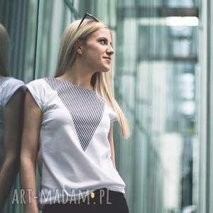T-SHIRT - KOSZULKA LONELY SHAPE BLACK, ROMIAR S, biała, koszulka, t-shirt, bawełna