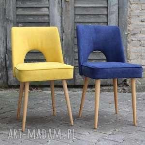dom krzesło muszelka niebieska, krzesło, muszelka, latasześćdziesiąte, vintage