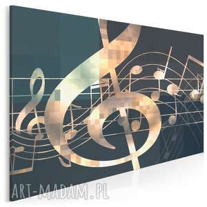 Obraz na płótnie - muzyka pięciolinia nuty 120x80 cm 87601 vaku