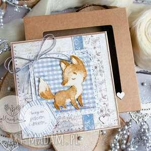handmade scrapbooking kartki urocza kartka dla dziecka na każdą okazję. Pudełeczko