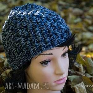 Czapka handmade, czapka, wełna, zrobiona-na-drutach, melanż, ciepła