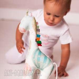 żyrafka balony ekri, zabawka, przytulanka, żyrafa, niemowlę, dziecko, wyjątkowy