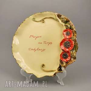 ręcznie zrobione ceramika patera z dedykacją