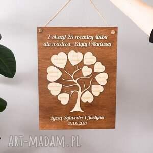 prezent na ślub, rocznicę - drzewko, rocznica ślubu
