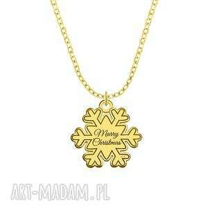 celebrate - snowflake - necklace g - ,płatek,śnieg,celebrytka,łańcuszek,pozłacany,