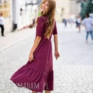 sukienki sukienka z falbaną wenus manna, sukienka, boho, falbana, print