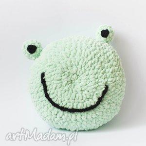 hand made zabawki przytulak żaba - maskotka ręcznie dziergana