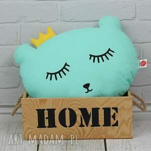 poduszka miś- miętwa - pokój dziecka, poduszka ozdobna, rękodzięło