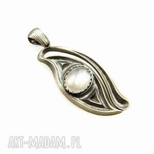 wisiorki magiczny wisior z kamieniem księżycowym, wisiorek, srebrny, biżuteria