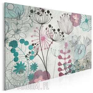 obraz na płótnie - esy floresy 120x80 cm 19201, kwiaty, rośliny, natura