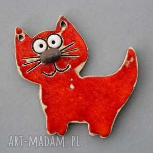 wyjątkowy prezent, kocisko- magnes ceramika, kociara, kot, kolekcjoner